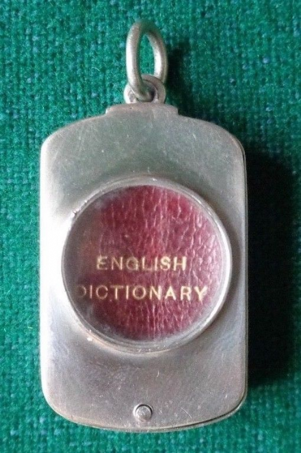 Antique Solid Silver Novelty Edwardian Sampson Mordan English Travel Dictionary